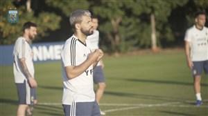تمرین بازیکنان آرژانتین پیش از تقابل با برزیل(11-04-98)
