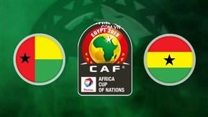 خلاصه بازی گینه بیسائو 0 - غنا 2 ( جام ملت های آفریقا )