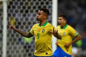 گل اول برزیل به آرژانتین توسط گابریل ژسوس