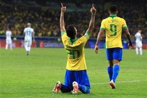 گل دوم برزیل به آرژانتین توسط فیرمینو