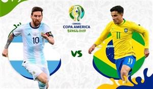 خلاصه بازی برزیل 2 - آرژانتین 0 (نیمه نهایی کوپا آمریکا)