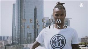 خوش آمد گویی باشگاه اینتر به والنتینو لاتسارو