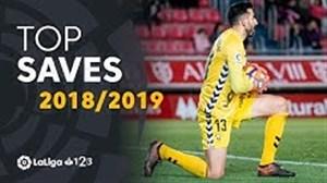 برترین سیوهای لیگ دو اسپانیا در فصل 19-2018
