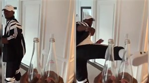 چالش در بطری پوگبا ستاره ملی پوش فرانسه