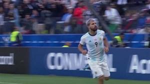 گل اول آرژانتین به شیلی(آگوئرو)