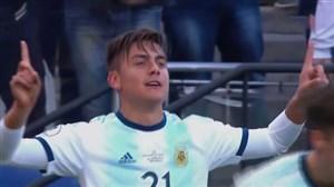 گل دوم آرژانتین به شیلی (دیبالا)
