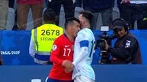 لحظات عصبانیت لیونل مسی در زمین فوتبال