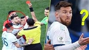 کارت قرمز های عجیب در زمین فوتبال