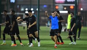 تمرینات دو تیم الدحیل و السد برای رویارویی با یکدیگر