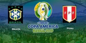 پیش بازی دیدار برزیل - پرو در فینال کوپا آمریکا