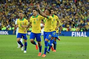 گل اول برزیل به پرو توسط اورتون