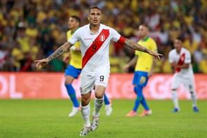 گل اول پرو به برزیل از روی نقطه پنالتی(گوئررو)