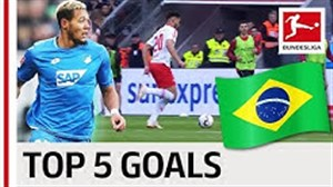 5 گل برتر بازیکنان برزیلی شاغل در بوندسلیگا 19-2018