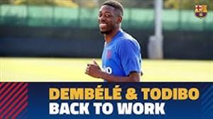 بازگشت دمبله و تودیبو به تمرینات بارسلونا