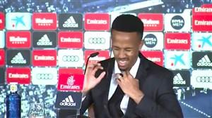 بد شدن حال ادر میلیتائو بازیکن جدید رئال در کنفرانس خبری