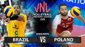خلاصه والیبال برزیل 2 - لهستان 3 (لیگ والیبال ملتها)