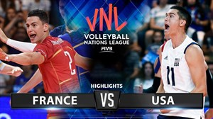 خلاصه والیبال آمریکا 3 - فرانسه 1 (لیگ والیبال ملتها)