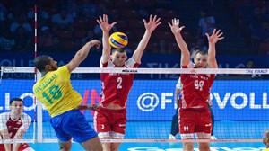 3 حرکت برتر دیدار شب گذشته والیبال برزیل - لهستان