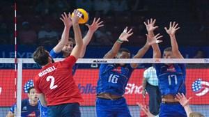 3 حرکت برتر دیدار شب گذشته والیبال آمریکا - فرانسه