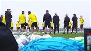 تمرین امروز تیم دورتموند برای آماده سازی بازیکنان