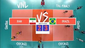 خلاصه والیبال برزیل 3 - ایران 2 (لیگ ملتهای والیبال)