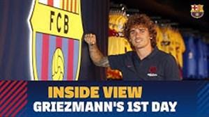 حواشی روز اول حضور گریزمان در باشگاه بارسلونا