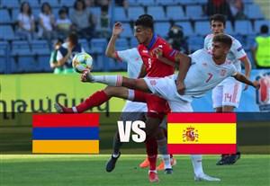 خلاصه بازی اسپانیا 4 - ارمنستان 1 (یورو زیر 19 سال)