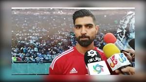 مصاحبه تصویری با رضا اسدی در تمرین تیم ملی