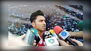 صحبت های سعید واسعی درحاشیه تمرین تیم ملی