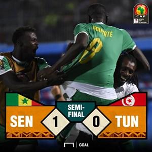 خلاصه بازی سنگال 1 - تونس 0 (جام ملت های آفریقا)