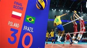 ویدئو خلاصه والیبال لهستان 3 - برزیل 0 (لیگ ملت های والیبال)