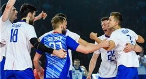 ست اول والیبال روسیه - آمریکا (لیگ والیبال ملت ها)