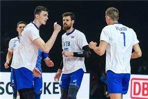 ست سوم والیبال روسیه - آمریکا (لیگ والیبال ملت ها)