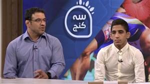 صحبت های توکلیان و عموزاده پس از کسب مدال در مسابقات کشتی جوانان