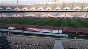 پایان نیمه اول دیدار تیم های ملی ایران و امید ایران
