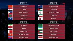 مراسم قرعه کشی تیمهای آسیایی در مقدماتی جام جهانی 2022 قطر