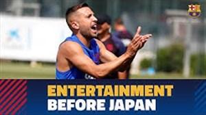 تمرینات امروز بارسلونا قبل از سفر به ژاپن