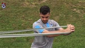 تمرین بازیکنان ترابزون با حضور مجید حسینی
