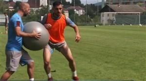 تمرین امروز ترابزون با حضور سید مجید حسینی