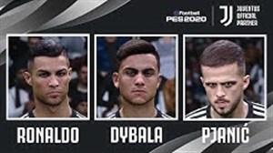 پیش نمایش چهره بازیکنان یوونتوس در بازی PES 2020