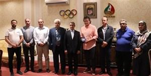 دیدار نماینده فدراسیون جهانی تنیس با سعیدی