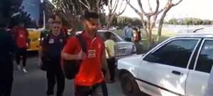 ورود بازیکنان پرسپولیس به ورزشگاه شهر قدس