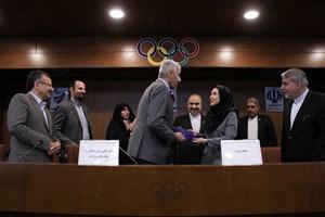 دیدار رئیس ملی کمیته المپیک ایران و وزیر ورزش عراق