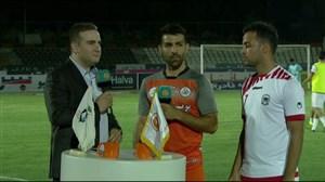 صحبت روزبه شاه علی دوست و چاهکوتاهزاده بین دو نیمه بازی