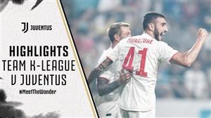 خلاصه بازی یوونتوس 3 - ستارگان لیگ کره جنوبی 3