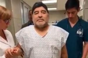 تشکر مارادونا از پزشکان بعد از جراحی زانو