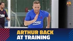 بازگشت آرتور ملو به تمرینات بارسلونا