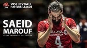 عملکرد درخشان سعید معروف در لیگ والیبال ملتها 2019