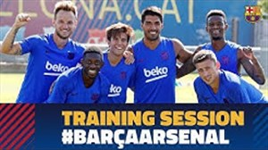تمرینات امروز بارسلونا(11-05-98)