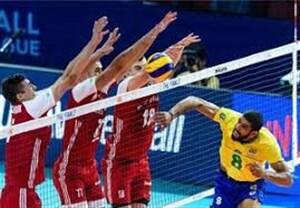 خلاصه والیبال لهستان 1 - برزیل 3(دوستانه)